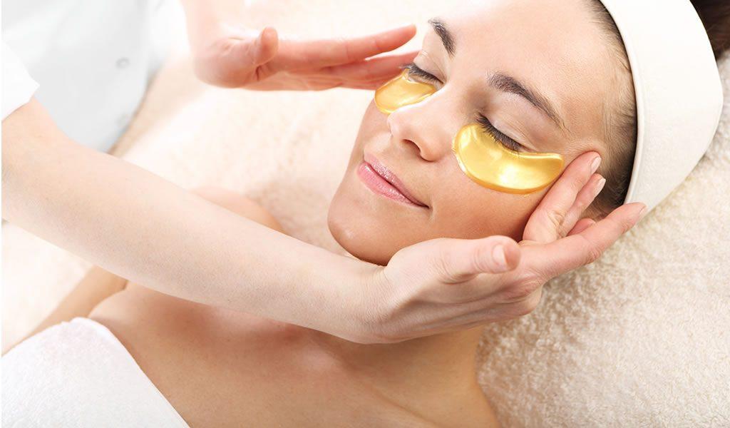 Gouden gezichtsmaskers