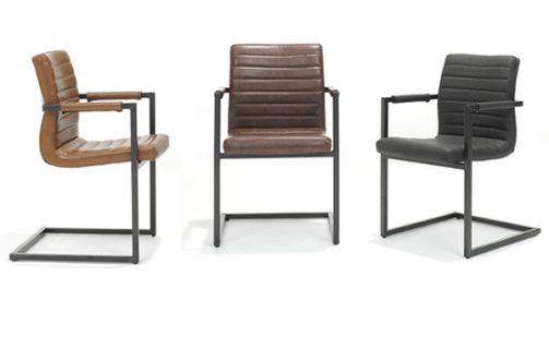 Set van 2 industriële stoelen actievandedag