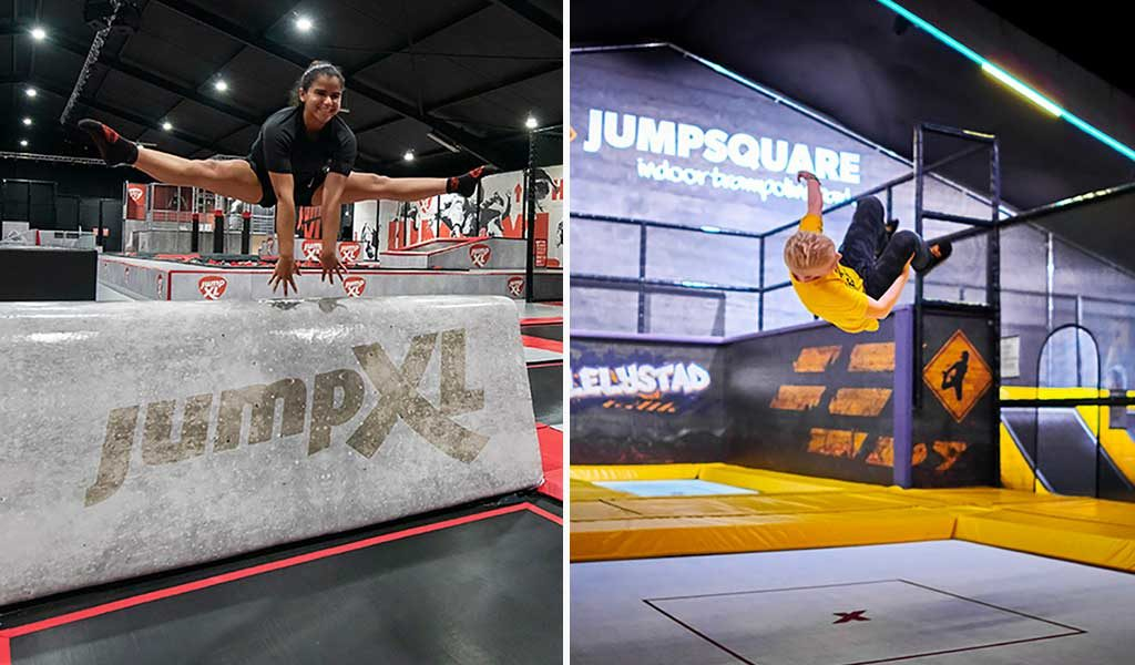 Korting 60 min jumpen bij Jump XL of Jumpsquare