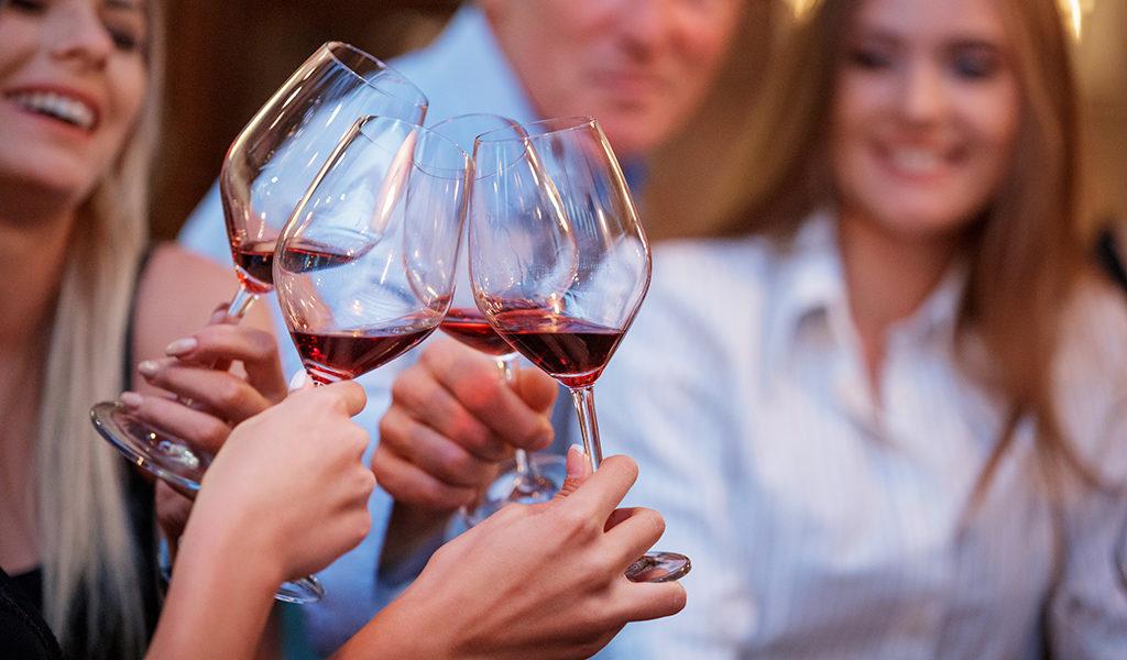 Wijnproeverij in Bergen