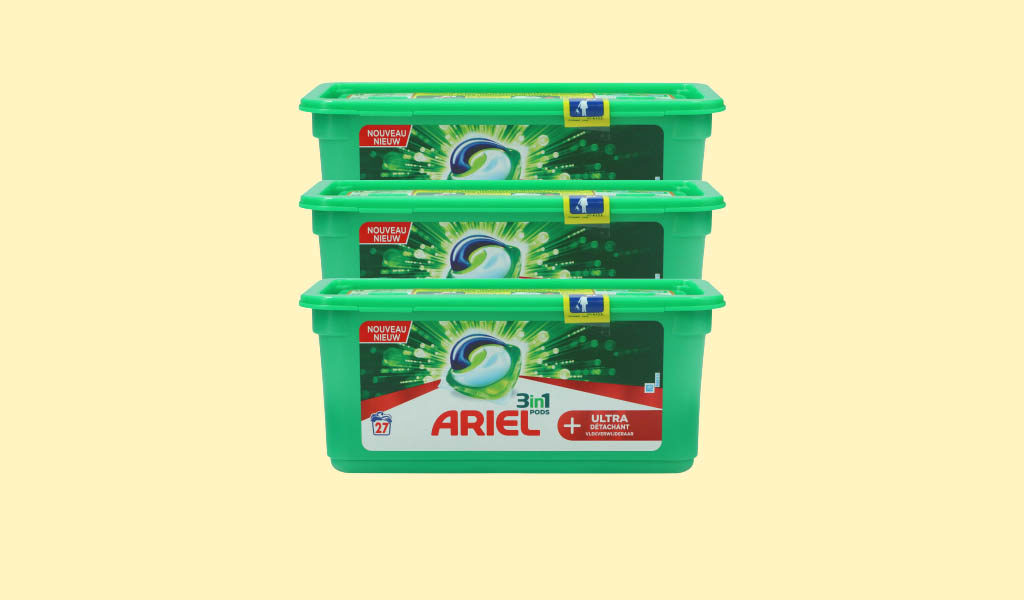 Korting Set van 3 Ariel All in 1 pods