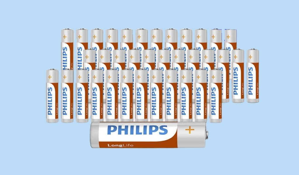 36 Philips AA óf AAA batterijen