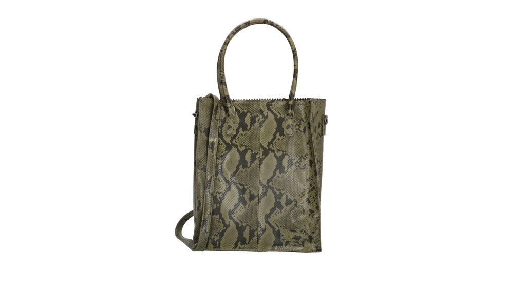 Handtas met slangenprint